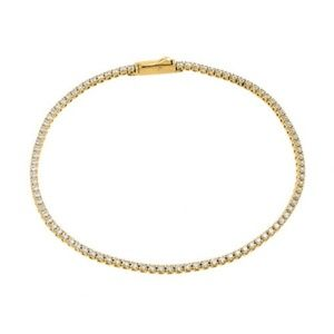 Jewelry - Gold Plated Multiple Round Tennis CZ Bracelet
